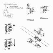 Flycoo2 Portable Pompes /à V/élo VTT BMX Trottinette /électrique Basket-Ball 210 PSI Haute Pression pour Presta et Schrader Valve