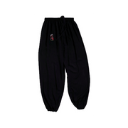 Pantalon de taichi noir - kung fu fluide Taille - 160cm