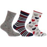 Chaussettes à motif coeur ou fleur (lot de 3) - Fille