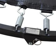 Mini Trampoline Fitness CardioJump Double-Bar Pliable 122cm-Gris