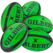 Lot de 5 ballons de rugby Gilbert Pass Catch Skill System (taille 5)