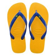 Tongs Havaianas Brasil Logo jaune bleu