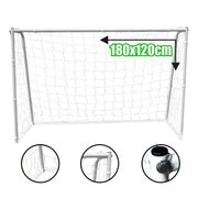 MINI CAGE - MINI BUT  Cage de Foot Deluxe L - 180 x 120 x 65 cm - Blanc