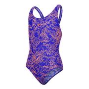 Maillot de bain Speedo Boom Allover Splashback bleu orange fille