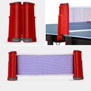 Table de ping pong OUTDOOR bleue, avec 4 raquettes et 6 balles, pour utilisation extérieure, sport tennis de table