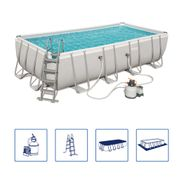 Bestway Ensemble de piscine rectangulaire Power Steel 56466