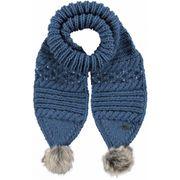 BARTS-Echarpe bleu à pompon imitation fourrure Barts