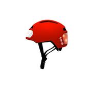 Casque vélo urbain TORCH avec LED intégrées avant et arrière - rouge