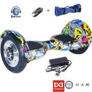 Hoverboard Cool&Fun Bluetooth Speaker LED Light 10 Electric Skateboard