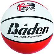 Baden Kids England Basketball Deluxe Ballon de basketball Rouge/blanc Taille 5 2017