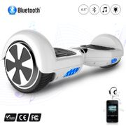Hoverboard 6.5 Pouces avec Bluetooth, Gyropode Overboard Skateboard Smart Scooter, Blanc