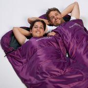 Skye - Sac de Couchage Rectangulaire - 220x75 cm - Jumelable - Violet -Zip Droit