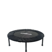 Mini Trampoline Fitness Jump4fun Double-Bar Pliable (Noir, diamètre 92cm)