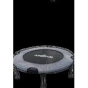 Mini Trampoline Fitness  Double-Barre Pliable Jump4fun, diamètre 92cm-Gris