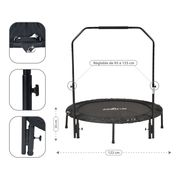 Mini Trampoline pliable Fitness Double-Barre Pliable 122cm- Noir Jump4fun