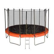 Trampoline de Jardin TUV avec Filet intérieur, diamètre 14 Ft / 427 cm - 12 perches - Couleur au choix (Orange)