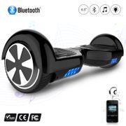Hoverboard 6.5 Pouces avec Bluetooth, Gyropode Overboard Skateboard Smart Scooter, Noir