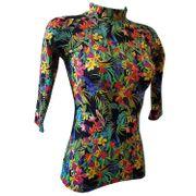 Tropiques Mayo Parasol T-shirt top anti UV manches courtes femme