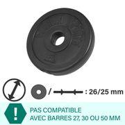 Gorilla Sports - Disque en plastique 1,25 kg de diamètre 26mm