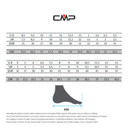 Chaussures de marche CMP Rigel Mid Waterproof noir gris femme