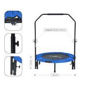 Mini Trampoline Fitness Jump4fun Pliable Door-Bar - Ø92cm, Bleu