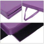 Tapis de sol gymnastique Fitness pliable 305 x 120 x 5 cm rembourrage mousse 5 cm grand confort PU violet neuf 64