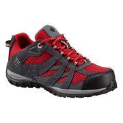 Chaussures Columbia Youth Redmond Waterproof gris foncé rouge enfant