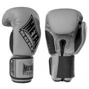 Gants de boxe gris noir compétition  de Métal Boxe - METAL BOXE - (Gris - 14 OZ)
