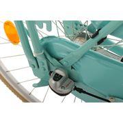 Vélo hollandais 28'' Tussaud 3 vitesses menthe avec porte-bagages avant TC 54 cm KS Cycling