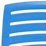 vidaXL Chaise de plage pliable 4 pcs Plastique Bleu