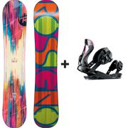 Pack Snowboard Diva Magtek + Diva S/m Rose Rossignol Femme