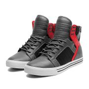 Shoes SUPRA SKYTOP GREY / RED / BLACK - WHITE