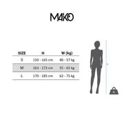 Combinaison néoprène Mako Naïad 2.0 noir bleu rose femme