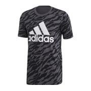 adidas - Essential AOP t-shirt pour hommes (gris)