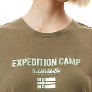 T-shirt Napapijri Sonthe manche courte vert kaki femme
