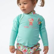 Mini Princesse Mayo Parasol T-shirt anti uv bébé manches longues