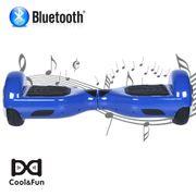 PACK COOL&FUN Hoverboard Bluetooth 6.5 Pouces Bleu + Hoverkart Hip - KIT KART GYROPODE Overboard Smart Scooter