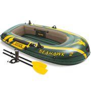 Avirons Distingué Set bateau gonflable avec rames + pompe Intex Seahawk 2 68347NP