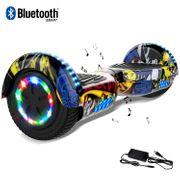 Cool&Fun Hoverboard 6.5 Pouces, Gyropode avec Bluetooth et Pneu à LED de couleur, Overboard Certifé CE, UL, Hip