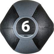 Pure2Improve Ballon médicinal avec poignées 6 kg Gris