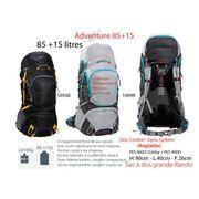 ADVENTURE 85 + 15 L-Sacs à dos 85 à 100 L - sac grande randonnée- grands sacs à dos
