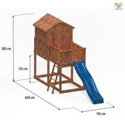 Aire de jeux en bois pour enfants Porte Vecchio