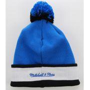 MITCHELL & NESS Bonnet Pompon ORLANDO MAGIC Bleu - Noir Block Cuff avec Pin's