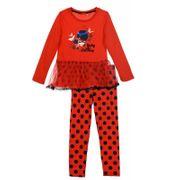 Ensemble enfant Miraculous Ladybug Tunique et legging Taille de 4 é 8 ans - 6 ans rouge