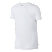 T-shirt à manches courtes Nike Miler blanc gris femme
