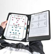 Presse-papiers de dossier tactique d'entraîneurs de football du football de formation professionnelle de précision