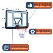 Panneau de Basket Mural Portable Bumber -  Phoenix 110 x 75 cm