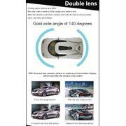 Dashcam camera dvr auto-1080P Full HD de 4,3 pouces, Écran d'Affichage Double Appareil-photo de Véhicule DVR, 140 Degrés grand A