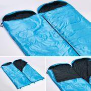 Skye - Sac de Couchage Rectangulaire - 220x75 cm - Jumelable - Bleu -Zip Droit