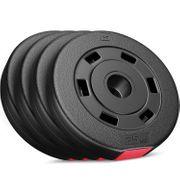 Poids disques en plastique 10kg (4x2,5 kg)